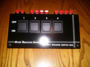 4 speakers switchbox Great American Audio