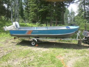 "16"" Princecraft with 35 HP Johnson Motor and Trailer"