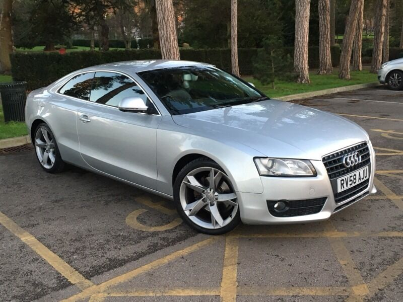 2008 58 audi a5 1 8 tfsi coupe silver 170ps in luton. Black Bedroom Furniture Sets. Home Design Ideas