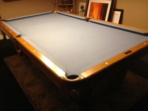 3 Piece Slate Pool Table, may Transport.