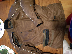 Tourmaster motorcycle jacket and motorcycle boots