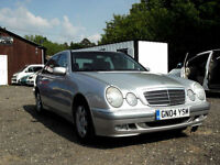 2004 MERCEDES-BENZ E 200 KOMPRESSOR RED TOP AUTOMATIC SILVER PX SWAP SWOP