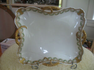 GORGEOUS OLD ANTIQUE UNUSUAL-SHAPED FRENCH LIMOGES CHINA [AS IS]