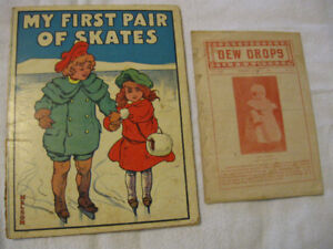 2 BOOKS MY FIRST PAIR OF SKATES 1901 DEWDROPS 1904
