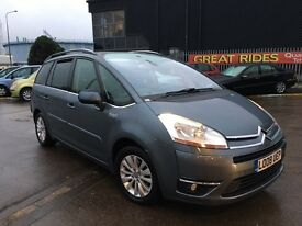 2008 CITROEN C4 PICASSO EXCL 7 SEATER 2.0 HDI DIESEL AUTOMATIC LONG MOT