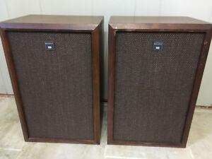 Vintage Sony Speakers Wood