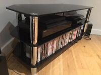 TV Corner Unit - Black Glass - £30