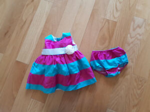 Baby Girl Chaps Dress Size 3 Months
