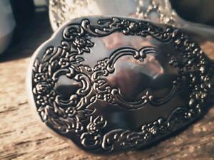 Antique miroir et brosse