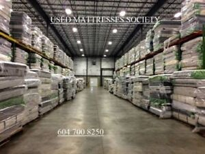 ALL SIZE AND BRAND NAME BIG SELECTIONS OF USED MATTRESSES MORE T