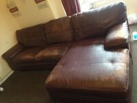 Burgundy leather corner sofa and cuddle chair FREE FREE FREE FREE NEED COLLECTING ASAP