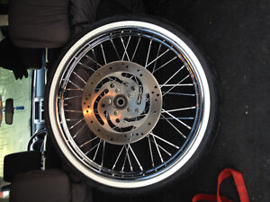 """Add a little bling to your softail with a 21"""" wheel"""