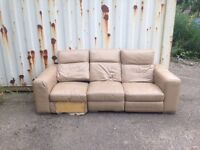 3 seater sofa with double recliner