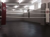GYM SPACE FOR HIRE. Fully matted floors and walls throughout, air conditioning, boxing ring, ect.