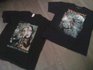 T-Shirt Megadeth et Marilyn  Manson