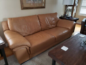 Leather Couch and Chair, Both in Excellent Condition!