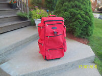 Back Pack Style Suitcase with Wheels and Retractable Handle