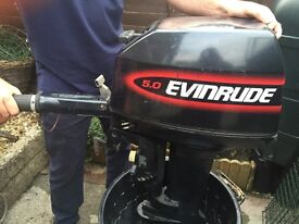 Evinrude long shaft 5hp outboard