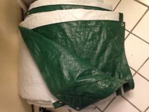 Like new 30'x50' Heavy duty poly tarp