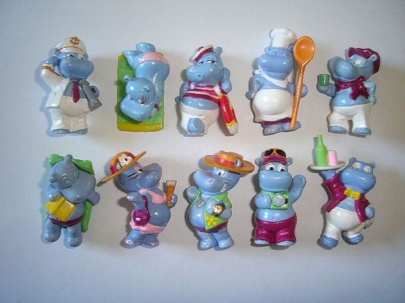 KINDER SURPRISE SET - HAPPY HIPPOS CRUISE 1992 - FIGURES COLLECTIBLES FIGURINES