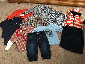 3-6 month boys lot including Gap jeans worn once ! Kitchener / Waterloo Kitchener Area image 1