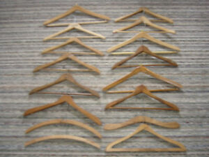 Wood Clothes Hangers Lot