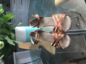 Copper Coloured C.W. Dancing Shoes- good condition, size 7