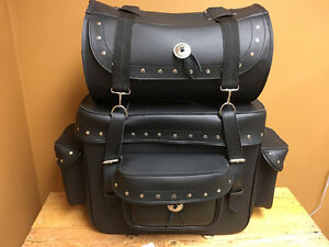 Deluxe Leather Sissy Bar Bag