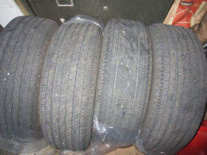█ Four 215/70R16, TOYO H/T,all season,very good condition (7/32)