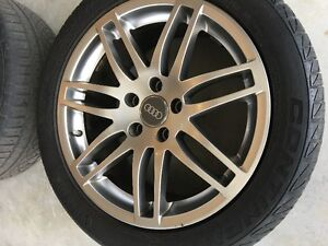 AUDI RIMS S4 STYLE WITH CONTINENTAL TIRES