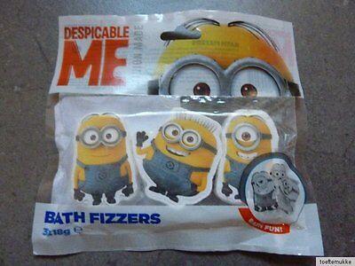 NEU 3 Minion Badefizzer Badezusatz Minions Despicable Me Minion Bath Fizzers