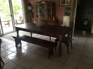 Barnboard  Dining Table and Bench