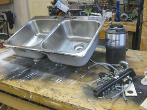 Double Bowl Stainless sink with Garborator