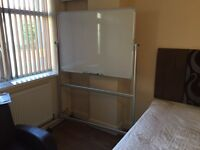 IKEA Large white Board on wheels
