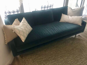 Beautiful Article velvet sofa. One year old.