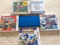 Nintendo DS XL inc 5 games+carry case mi