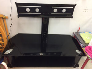 Tempered glass TV stand & shelves