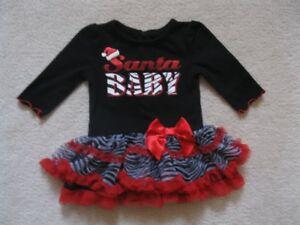 Baby Glam Santa Baby Dress
