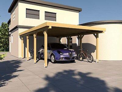 Carport Flachdachcarport SILVERSTONE XIV 400 x 600 cm Bausatz + Beschläge