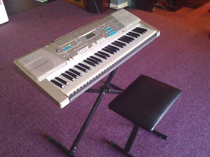CASIO LK-300 TV KEYBOARD, stand and stool