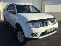 2013 63 Mitsubishi L200 2.5DI-D 4WD ( EU V ) Trojan in WHITE WITH REAR CANOPY