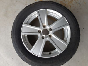 VW aluminum rims with good rubber
