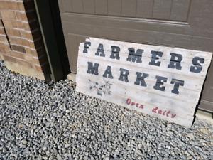 Yard art sign