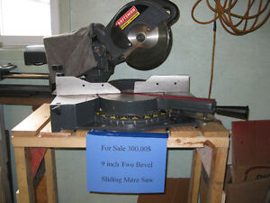 9 inch two bevel sliding mitre saw