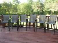 Outdoor Bar Style Chairs set of six