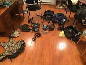 Paintball gear ( gun mask loader pods vests and more)
