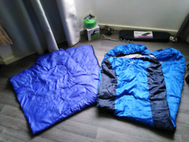 Camping bundle for tent. Sleeping bags, kettle, bed and lights