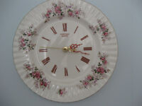 Pretty decorative Wall Plate also a clock; Sweet