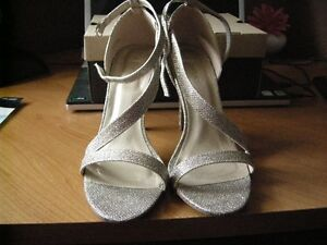 womens gold glitter evening shoes size 9