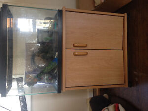 Fish tank on stand and eveything needed to start your own aquari